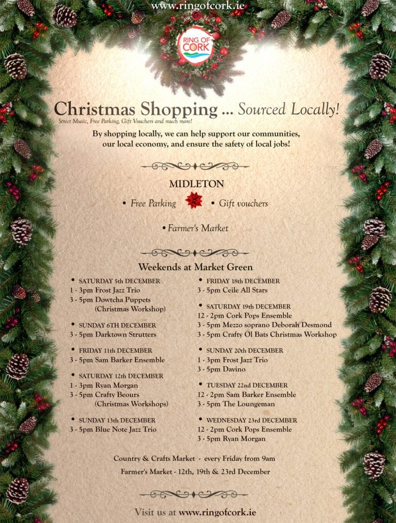 Christmas Newsletters & Christmas Shopping Competition WINNERS - Ring of Cork