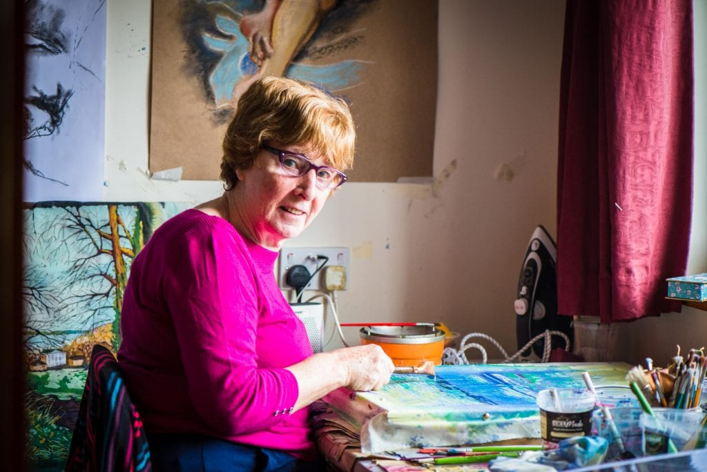 Take a walk with Áine through her batik paintings - Ring of Cork